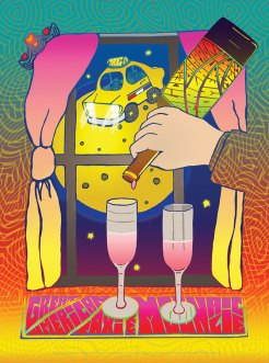 M856 › 8/04/15 Alice's Champagne Palace, Homer, AK poster by Carolyn Ferris