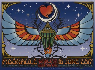 M987 › 6/16/17 Analog Theater, Portland, OR poster by Gary Houston with Garcia Birthday Band