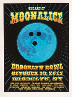 M547 › 10/28/12 Art of Moonalice Poster Show, Brooklyn, NY silkscreen poster by Dave Hunter