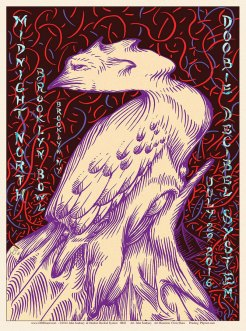 R83 › 7/29/16 Brooklyn Bowl, Brooklyn, NY poster by John Seabury