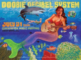 R85 › 7/31/16 Guitarfish Music Festival, Cisco Grove, CA poster by Christoper Peterson