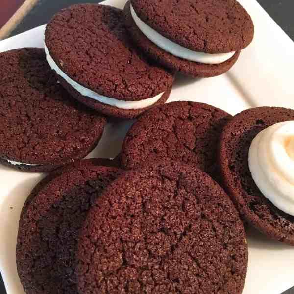 chocolate sandwich cookie, gluten free, cookie, moondance
