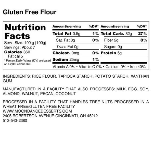 Moondance, gluten free flour, all purpose flour