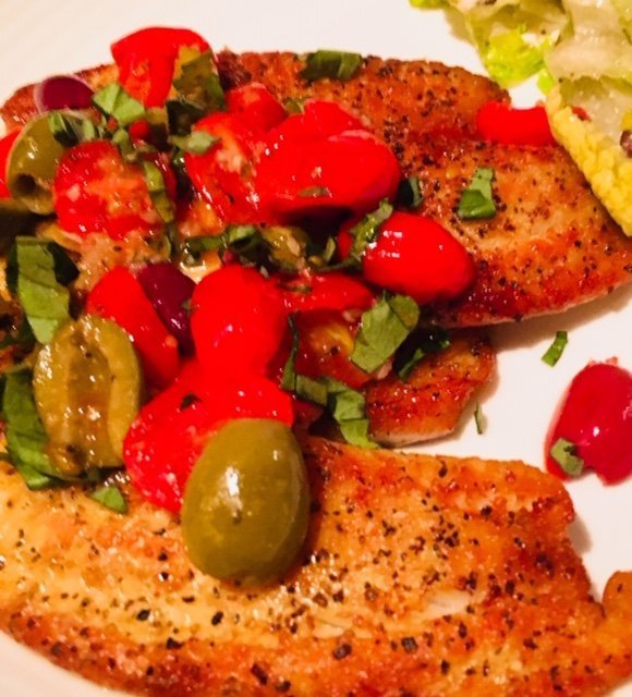 Mediterranean Tilapia and Greek Salad