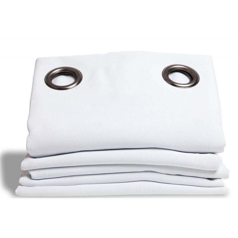 rideau occultant aspect pique coton blanc rideaux moondream