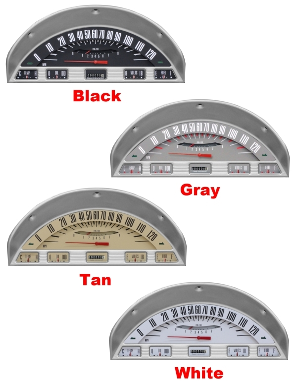 Home Wiring White Color 56 Ford F 100 Truck Package Gauge Panel