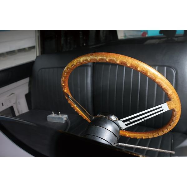 California Metal Flake Finger Grip Steering Wheel 15 inch