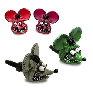 Rat Fink Head License Plate Bolts  Gray Green Pink and Purple Auto Accessories