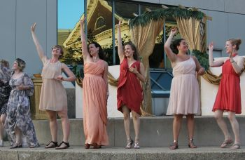 Lysistrata Kathleen Black, Andrea Blakey, Claire Acott, Gaby Grice, Carolyn Hall and Lesley Robertson