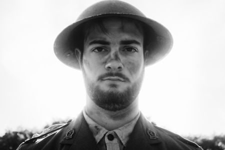 Andrew Petker as Captain Stanhope in The Empty Room's production of Journey's End in Toronto. Photo by Patrick Lemieux
