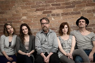 Photo of True cast: Ingrid Rae Doucet, Shannon Taylor, Layne Coleman, Sabrina Grdevich, Scott McCord. Photo by Aleyah Solomon