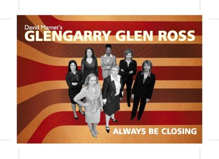 The cast of Glengarry Glen Ross, now onstage at Red Sandcastle Theatre in Toronto