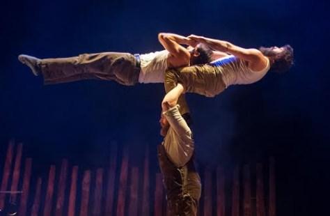 Photo circus act from Timber! as part of PANAMANIA