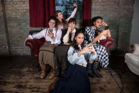 Photo of Isabel Kanaan, Sarah Gibbons, Rafaela Lewis, Shakura Dickson, and Jorie Morrow