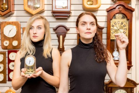 Photo of actors Gwynne Phillips (left), Briana Templeton (right).