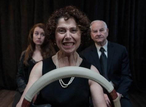 Photo of Rachel VanDuzer, Toni Ellwand, and Barry Birnberg in The Ties That Bind and Gag