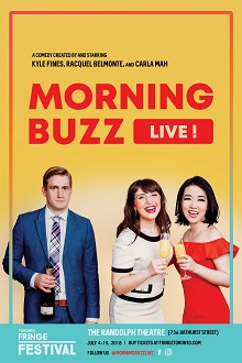 Picture of Kyle Fines, Racquel Belmonte, and Carla Mah in Morning Buzz Live!