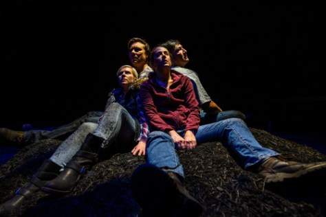 Photo of Louise Lambert, Jesse Gervais, Kaitlyn Riordan, and Sheldon Elter in After the Fire
