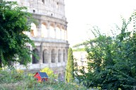 On June 28, 2013 Emil Vinterhav brought Moonhouse #1.4 to Rome. Here at Coliseum one of the Seven Wonders of the World.