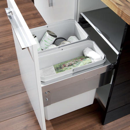 blum kitchen bins design house faucets oko liner pull out waste bin 503 04 514 515 close