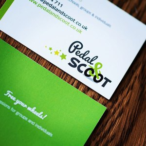 Pedal and Scoot business cards