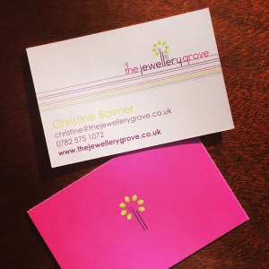The Jewellery Grove - business cards