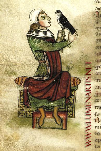 El Águila Calzada. Gavilanero. La Edad Media, la edad de oro<br /> de la cetrería europea.