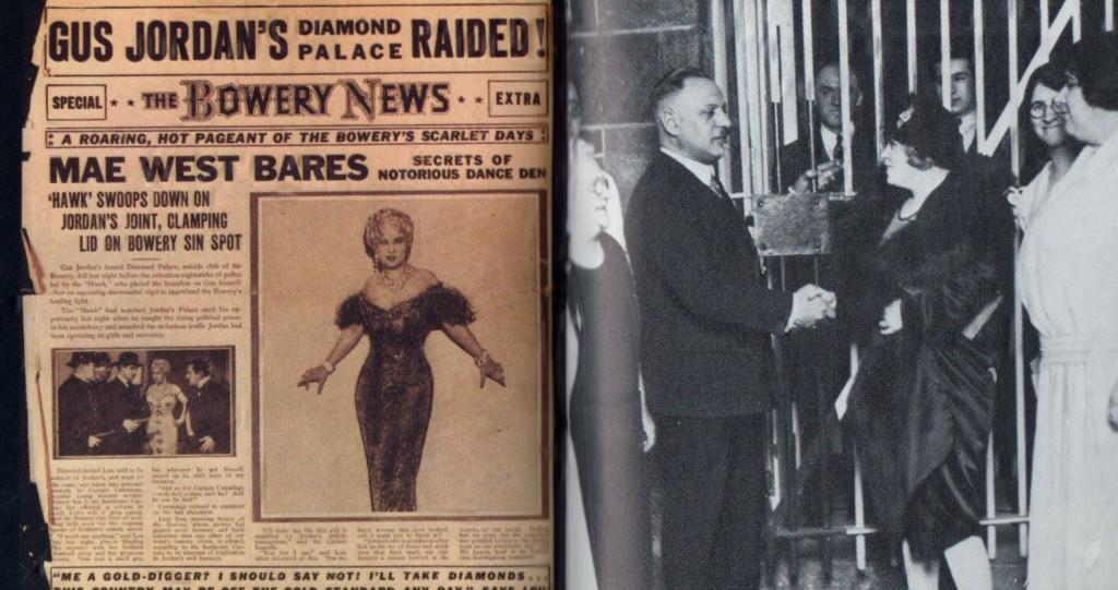 Mae y Marlene. Mae West despidiéndose del alcaide.