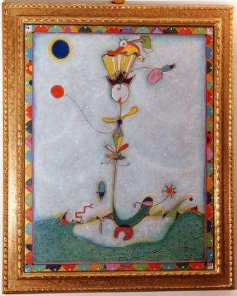 Gabriele Nuzzarello. Il re dei pazzi  El rey de los locos ( óleo sobre tabla cm. 92 x 73 )