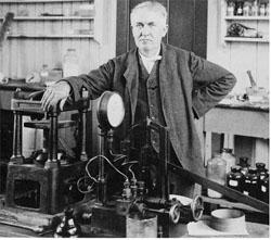 El cantor de jazz. Thomas Alva Edison. A él le debemos la impresión de de las primeras películas.