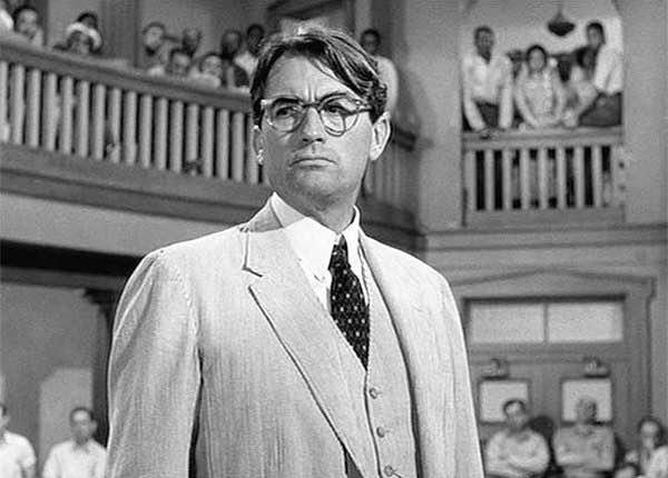 Matar a un ruiseñor. Harper Lee. Atticus, interpretado por un gran Gregory Peck en la película de Robert Mulligan.