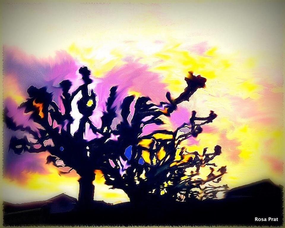 Libérame primavera. Estrella de agua. Dibujo digital de Rosa Prat Yaque