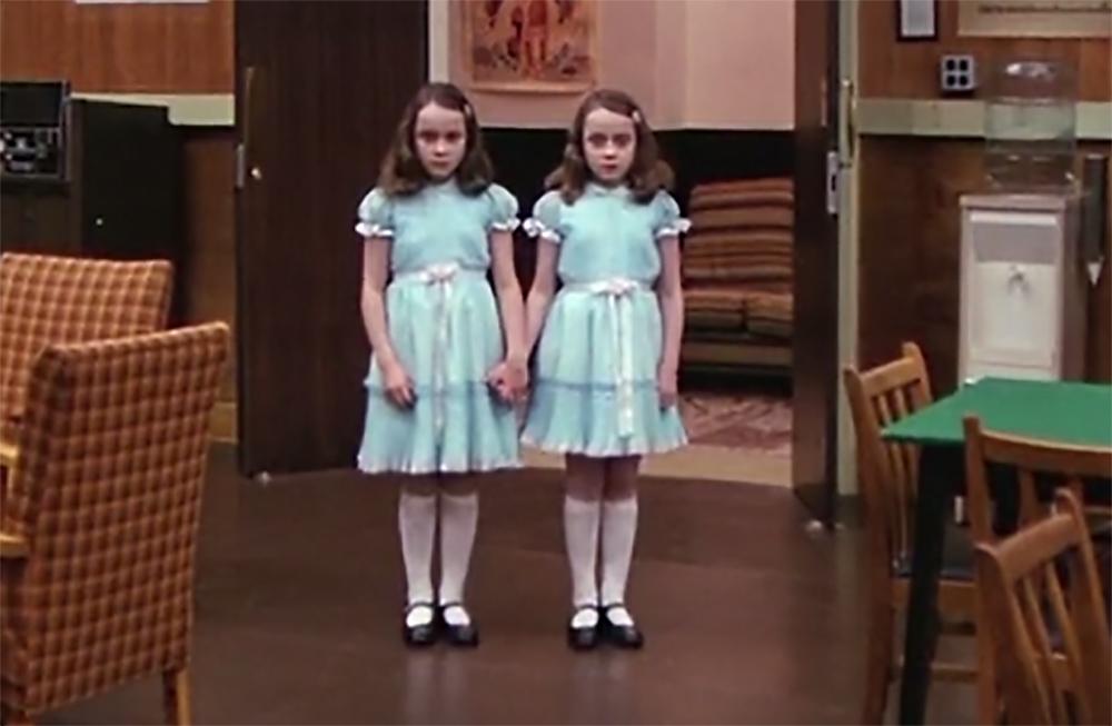 El Resplandor. Treinta y cinco años de la película de Kubrick. Las gemelas Grady.