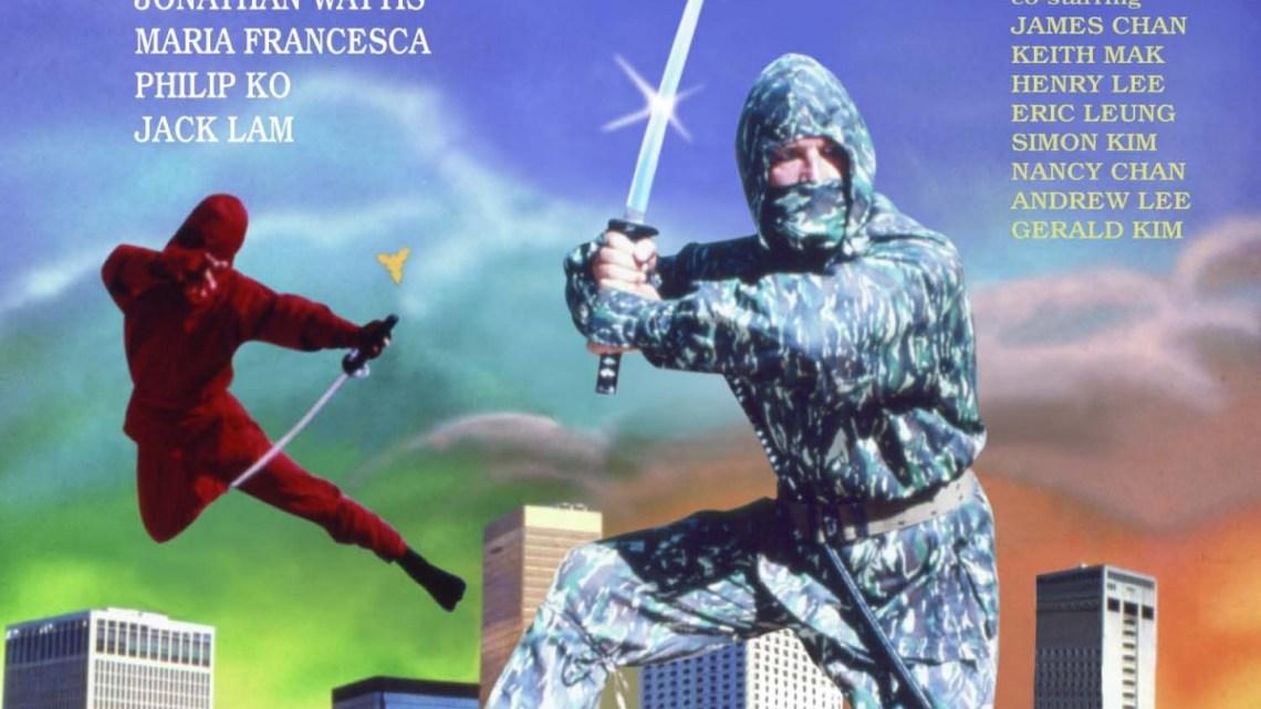 Ninja Terminator. Caspa y porrazos. Cartel.