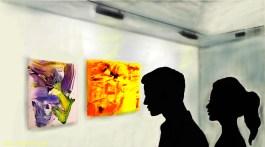 En la galería de arte. Digital de Rosa Ptat