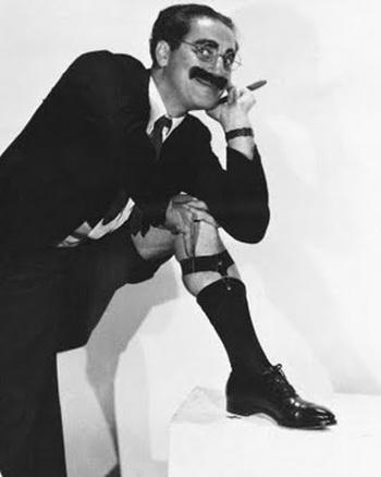 Groucho Marx y Woody Allen. Ídolos, aquellos seres terrenales. Groucho.