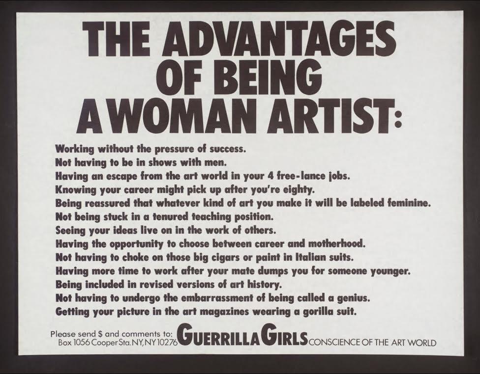 Guerrilla girls: grupo reivindicativo contra el sexismo en el arte. Artículo de Pilar García Reche.