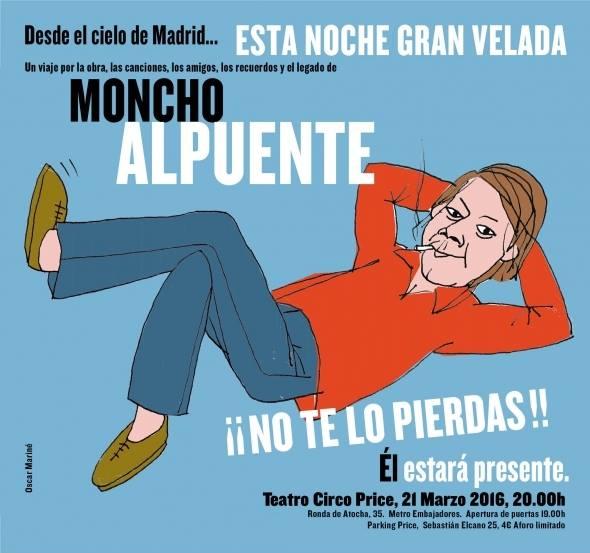 Mi Moncho, ese Moncho Alpuente genial. Un artículo de sus amigo, el escritor Víctor Claudín, que recuerda la figura de este gran creador.