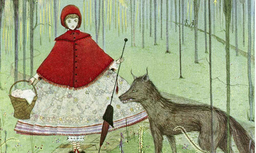 Caperucita no tiene quien la lea. Sobre censura y lobos. Artículo editorial de Txaro Cárdenas sobre la censura y el caso María Frisa. Imagen de portada: Little Red Riding Hood. Artwork by Harry Clarke .