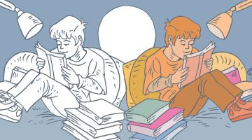 ¿Cuál es la mitad buena de los libros infantiles. Artículo e ilustración de Santiago García-Clairac.