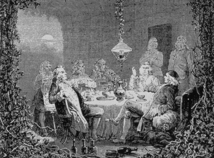 Reunión en casa de Mathew Boulton.