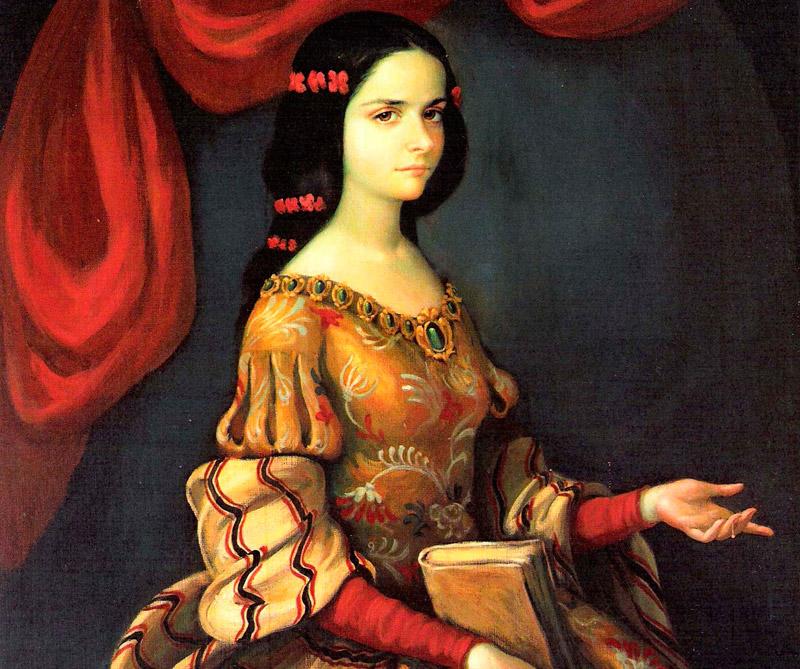 Juana Inés de la Cruz a la edad de quince años