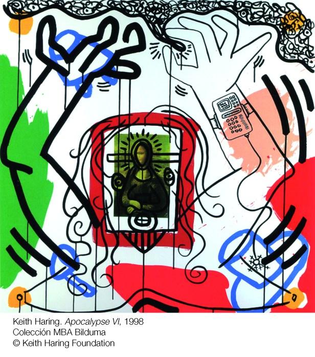 Exposición POP POP POP American Pop Art en sala Kubo-kutxa de Donostia Keith Haring. Suite Apocalypse (1988)