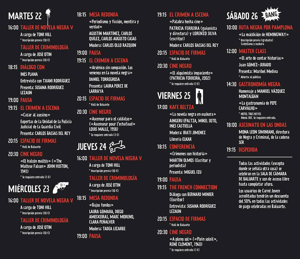 Quinta edición de Pamplona Negra: bajo el lema The French Connection 1