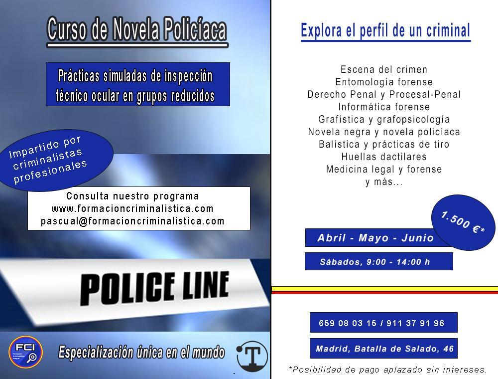 Curso de Formación Teórico-Práctica de novela policiaca 1