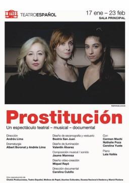 Andrés Lima triunfa en el Teatro Español con Prostitución 1