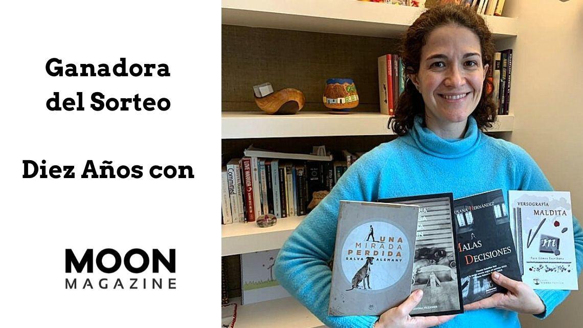 Ganadora del sorteo especial de libros 'Diez años con Revista MoonMagazine'