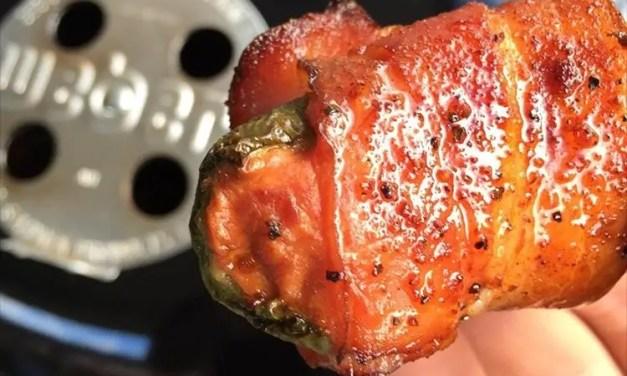 Bacon Wrapped Jalapeños with Smoked Honey