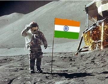 Image result for moon indian flag