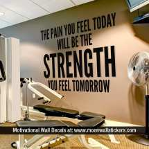 Gym Motivational Quote Wall Decal